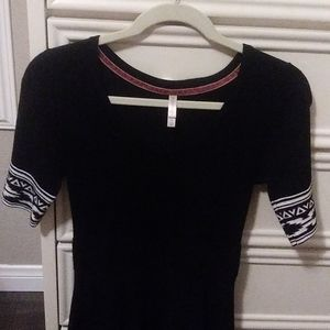 XHILARATION Black and White Dress (Fitted)